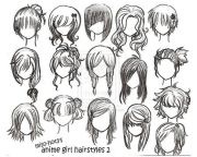 hair drawings awesome inspiration