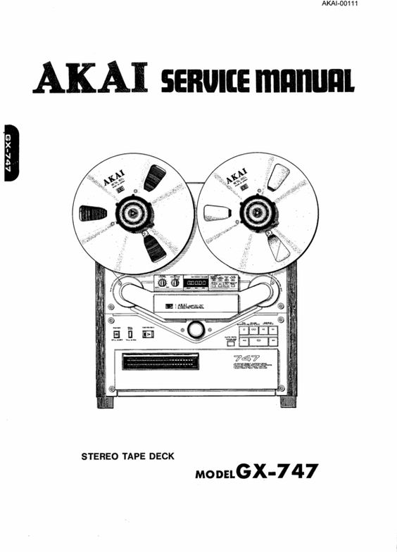 Akai GX-747 reel tape recorder Service Manual 100