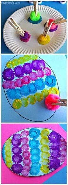 Easter Egg Pom Pom Craft