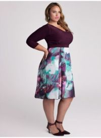 Purple dress, Style and Curves on Pinterest