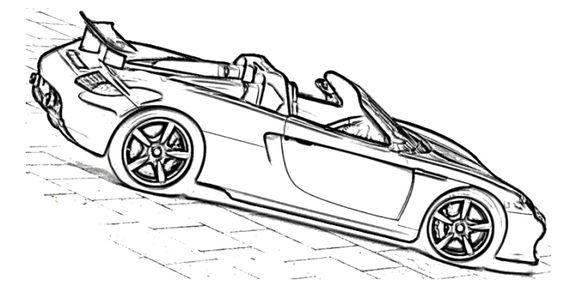 Porsche, Coloring pages and Porsche carrera on Pinterest