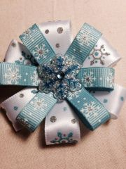 "handmade 3"" winter snowflake hair"