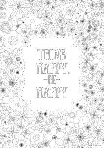 Free printable adult colouring pages with inspirational