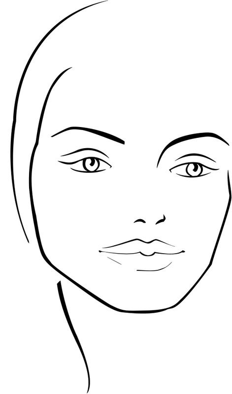 kb-beauty.com: Blank Face Chart Temples (Male and Female