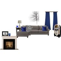 royal blue, grey and black living room | For the Home ...