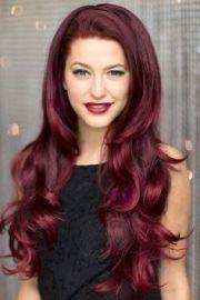 cherry wine hair color - google