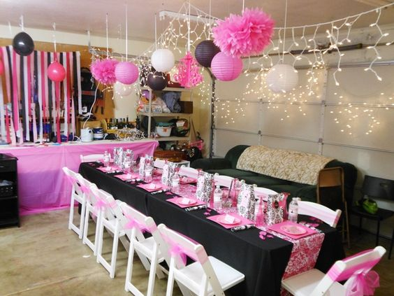 Parisian, French, Paris, Pink, Pink And Black Birthday