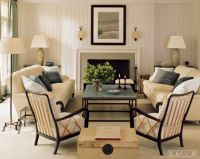 Transitional and Eclectic Living Room- furniture ...