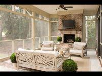sunroom with fireplace Palmetto Bluff | Porches & Decks ...