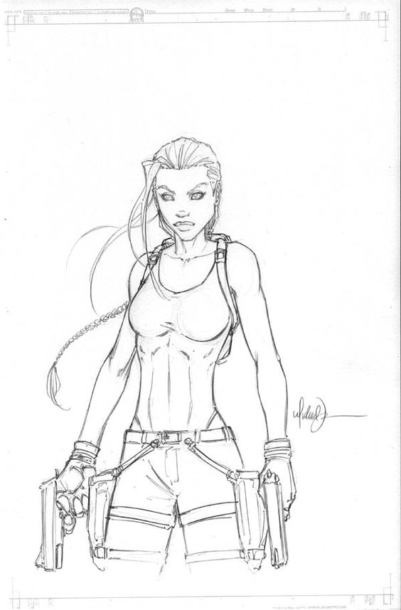 Lara croft, Michael turner and Sketches on Pinterest