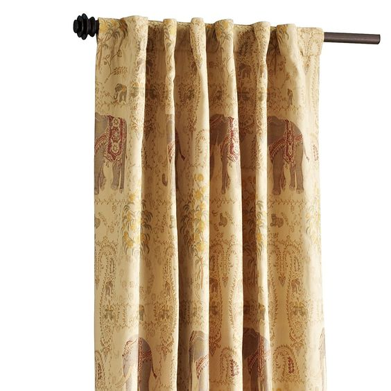 Elephant Tapestry Panel curtain  Home  Rugs Curtains