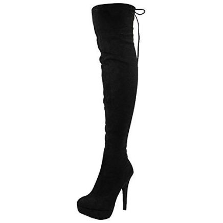 Womens Ladies Stretchy Thigh High Over The Knee Long Lace…: