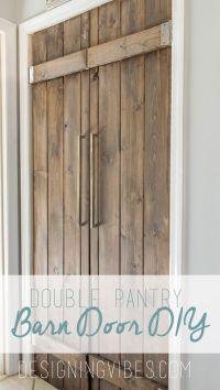 Double Pantry Barn Door DIY Under $90- Bifold Pantry Door ...