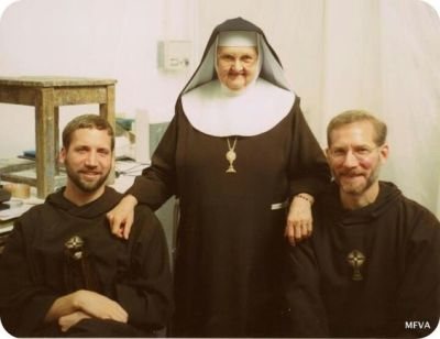 Fr Mark , Fr Joseph & Mother Angelica back in the day!: