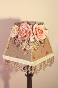 Shabby Chic/ Cottage style Lamp shade | FLOWER AND RIBBON ...