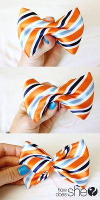 DIY: Make a Bow Tie From a Men's Necktie