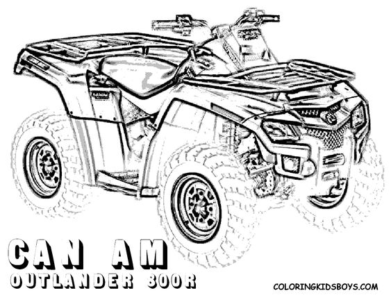 four wheeler coloring pages of Can-Am Outlander 800r at