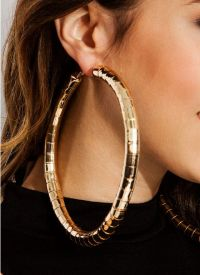 Hoop Earrings Women With Brilliant Type  playzoa.com