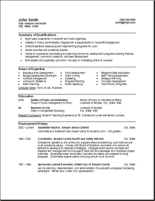 Resume Format And Resume On Pinterest