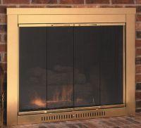Sentry Contemporary Fireplace Glass Door | WoodlandDirect ...