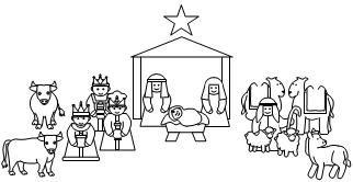 Nativity story pieces to retell the story. I make a set