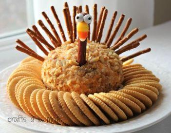 Thanksgiving Turkey Cheese Ball:
