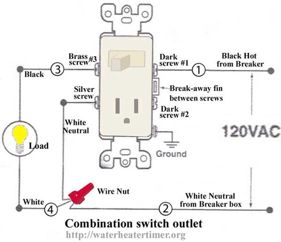 110 volt house wiring diagram alluvial fan how to wire switches combination switch/outlet + light fixture turn outlet into ...