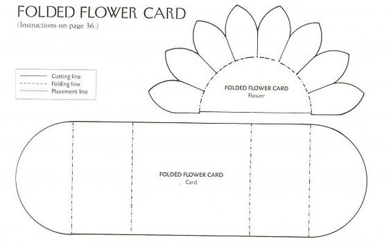 Flower cards, Card templates and Sunflower cards on Pinterest