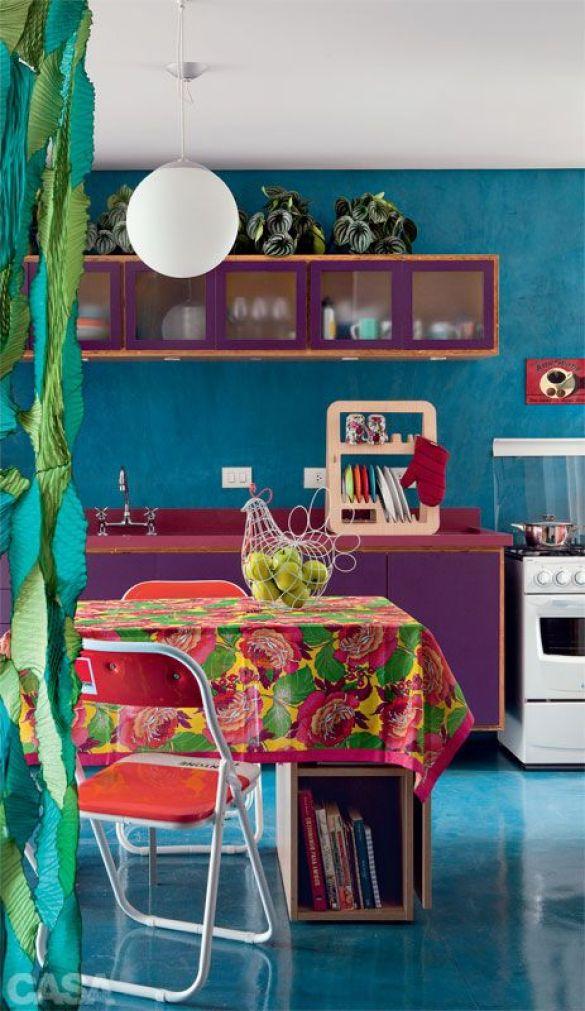 Apartamento pequeno: 65 m² coloridos e descolados - Casa: