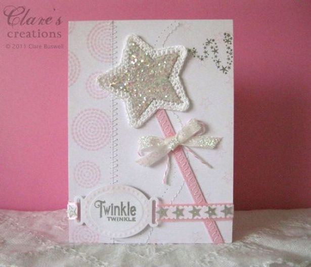 cute little girls card: