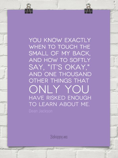 """Only You"" ~ Dean Jackson (behappy.me format):"