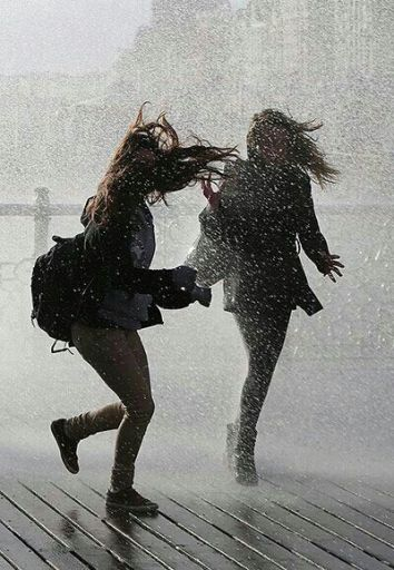 Someone pull me into doing something I like, but am not confident enough to do on my own. Like being crazy and dancing in the rain: