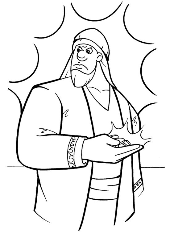 Alphabetical list of about 200 Bible story coloring pages