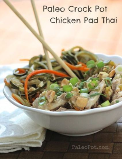 Paleo Pad Thai - and in the slow cooker! Oh, YUM!: