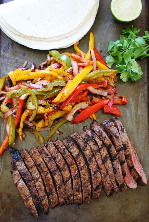 """Grilled Steak Fajitas Recipe 