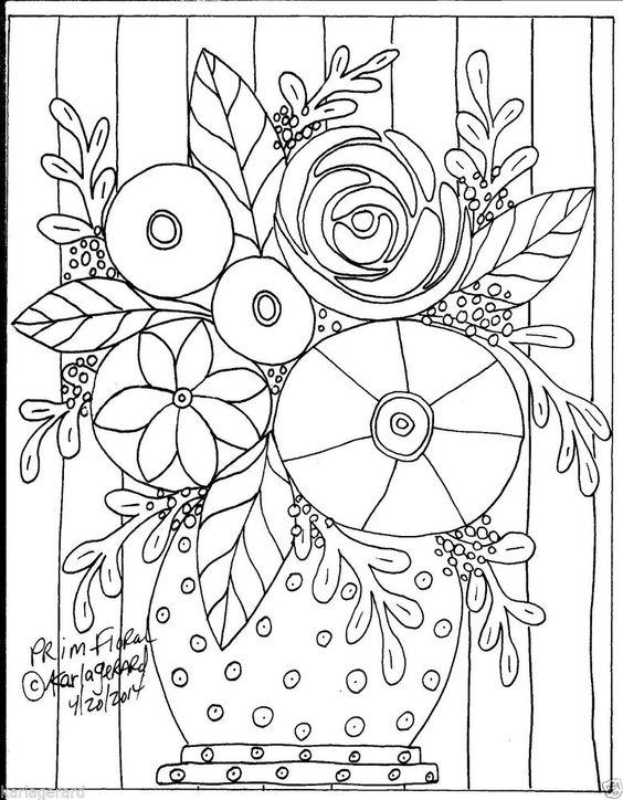 Details about RUG HOOKING CRAFT PAPER PATTERN Prim Floral