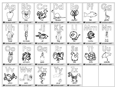Printable Alphabet Coloring Book   Coloring Page Books and etc