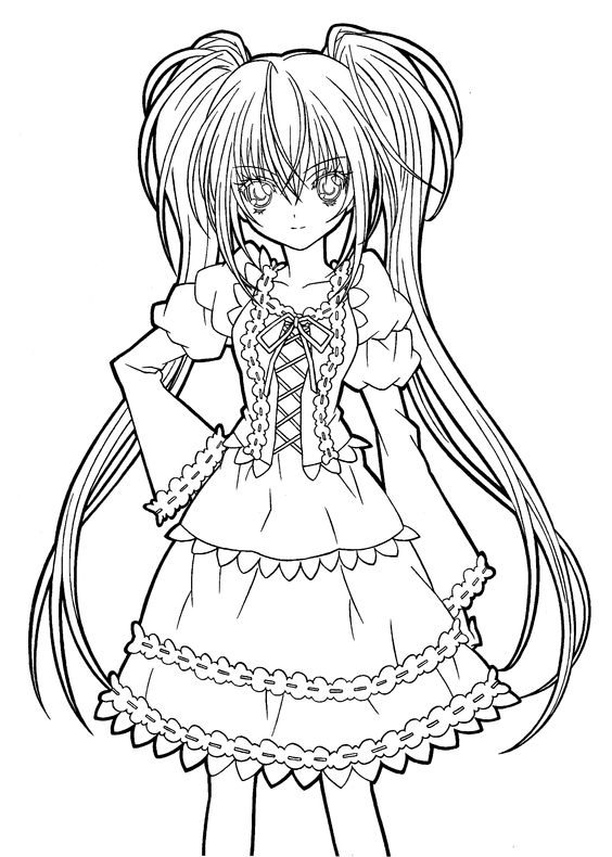 Hotaru fashion Shugo chara coloring pages for kids