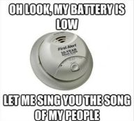 funny fire alarm meme: