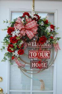 Valentine Wreaths for Front Door | Valentine Wreath ...