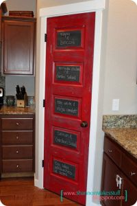 Painted kitchen pantry door. Love this! -Y (via ...