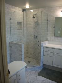 Angles, Corner showers and The glass on Pinterest