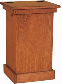 Amish Pine Wood Lift Top Trash Bin Cabinet | Stains ...