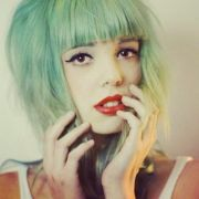 faded green hair x