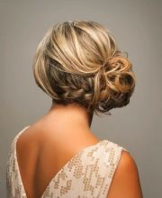 trendiest updos medium length