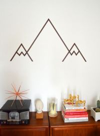 Geometrisches Gebirge | DIY * Washi Tape Mountain Wall Art ...