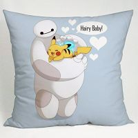 Baymax Big Hero 6 and Pikachu Pokemon Pillow Case (18x18 ...