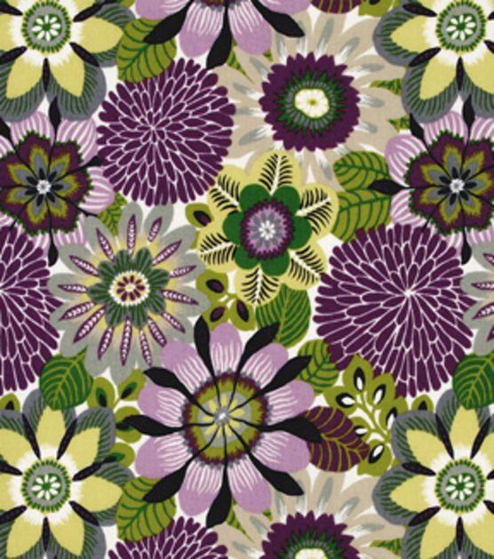 45'' Home Decor Fabric Robert Allen Trop Flora Purple At Joann Com