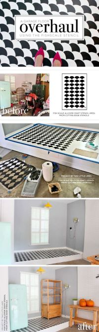 Cutting Edge Stencils shares a DIY garage makeover with a ...