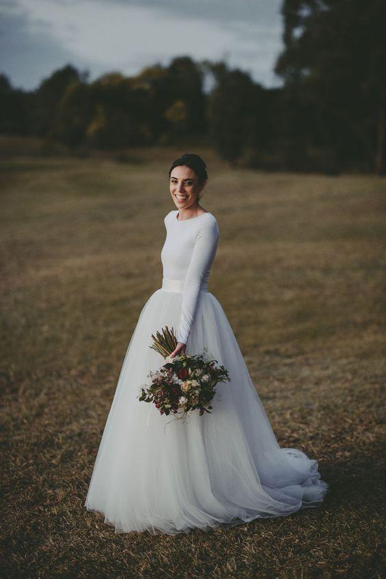 Wonderful 55 Beautiful Long Sleeve Wedding Dresses